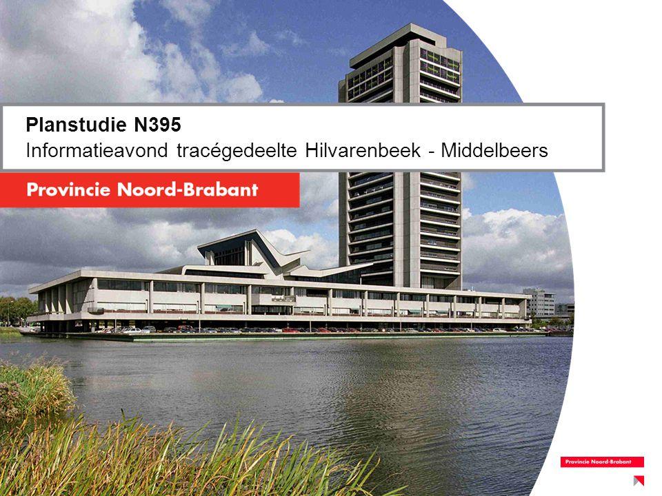 Agenda 6 november 2013 Diessen –19:00 uur: inloop –19:30 uur: welkom (wethouder van Doormaal, Hilvarenbeek) –19:35 uur: toelichting avond+terugblik (Jan de Kruijf, Provincie) –19:40 uur: presentatie planstudie (Cees Doeser, Grontmij) –20:15 uur: Pauze en koffie Toelichting op de plannen aan de tafel –21:00 uur: Terugmelding gemaakte opmerkingen Toelichting op vervolg –21:30 uur: gelegenheid tot napraten –22:00 uur: einde
