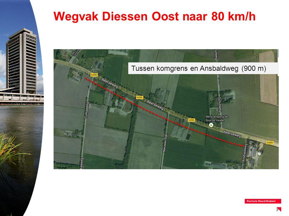 Wegvak Diessen Oost naar 80 km/h Tussen komgrens en Ansbaldweg (900 m)