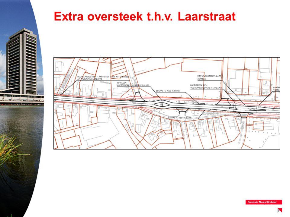 Extra oversteek t.h.v. Laarstraat
