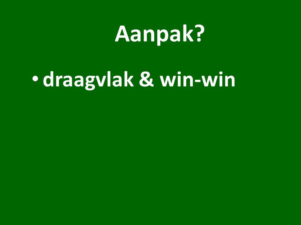 Aanpak draagvlak & win-win