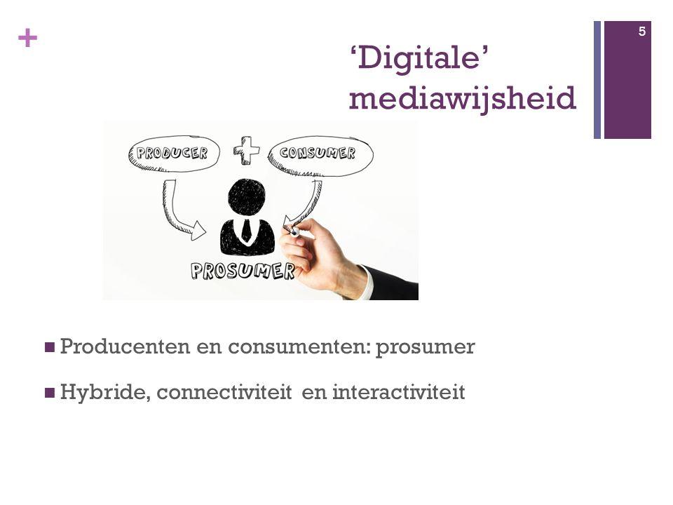 + Mediawijs.be 16 Veldtekening mediawijsheid Dossiers E-inclusie, wat is dat.