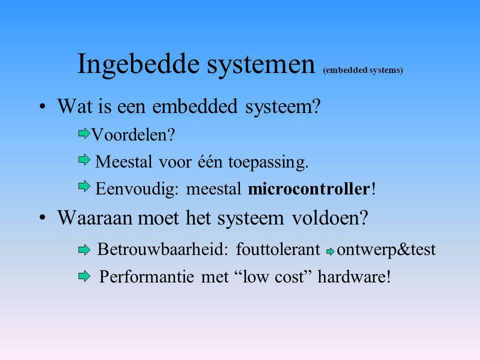 Ingebedde systemen (embedded systems) Wat is een embedded systeem.