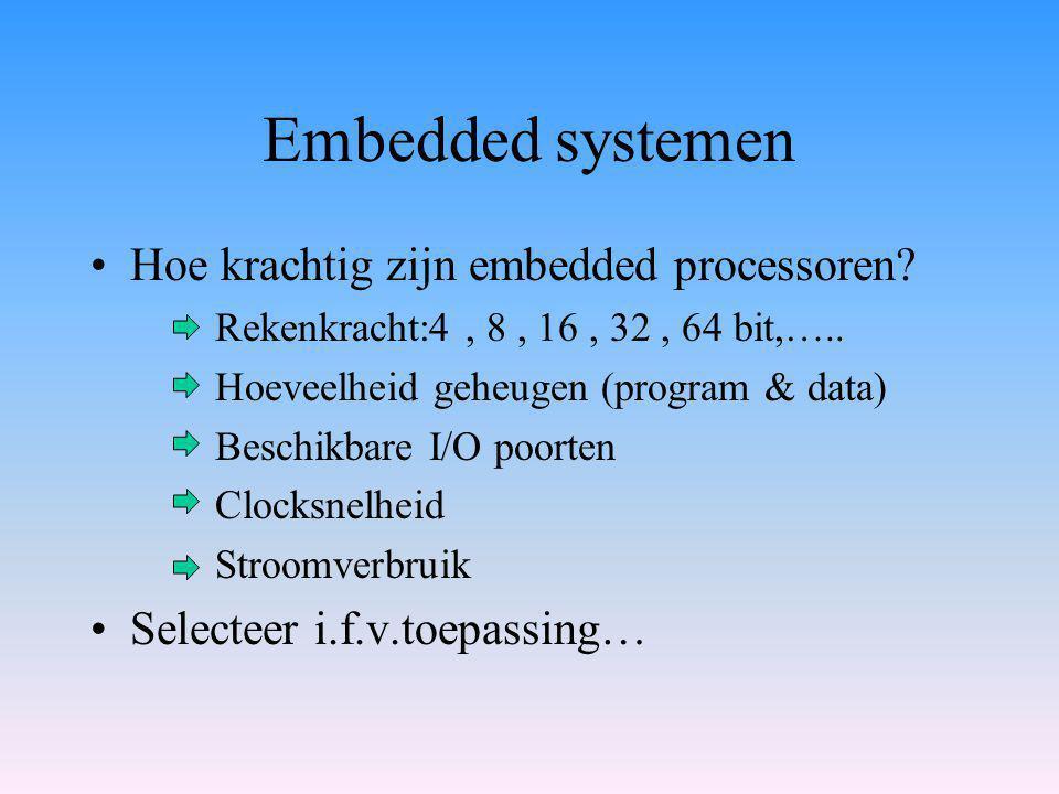 Embedded systemen Hoe krachtig zijn embedded processoren.