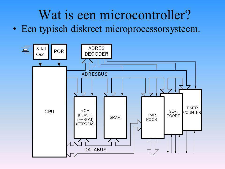 Wat is een microcontroller? Een typisch diskreet microprocessorsysteem.