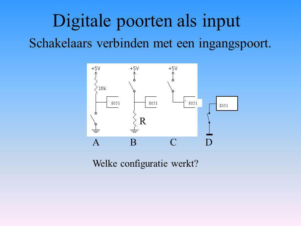 Schakelaars verbinden met een ingangspoort.ABC Welke configuratie werkt.