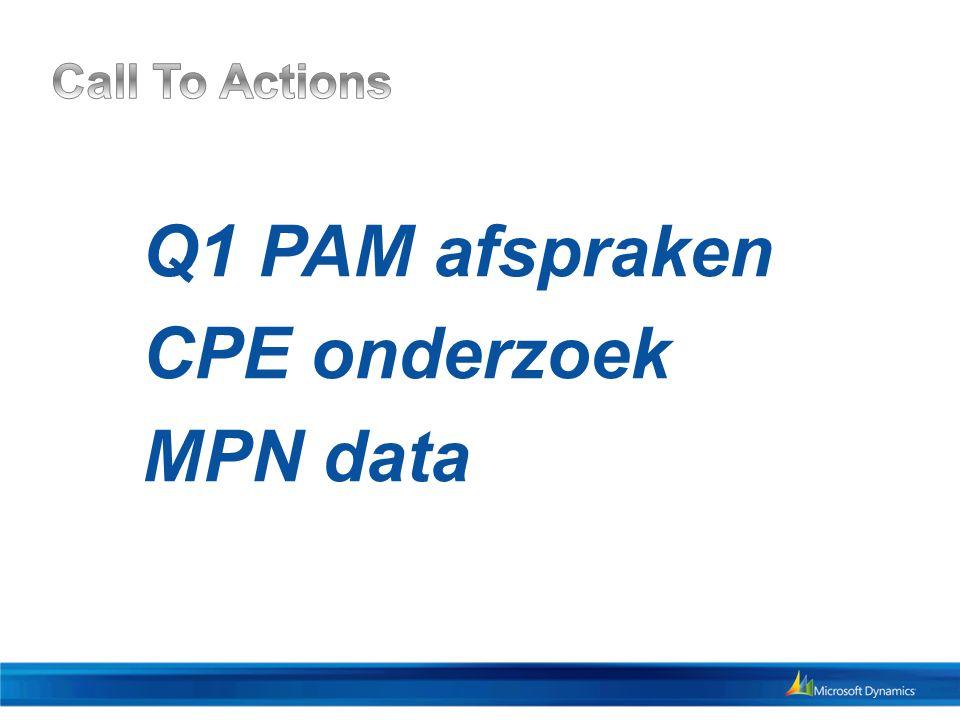 Q1 PAM afspraken CPE onderzoek MPN data