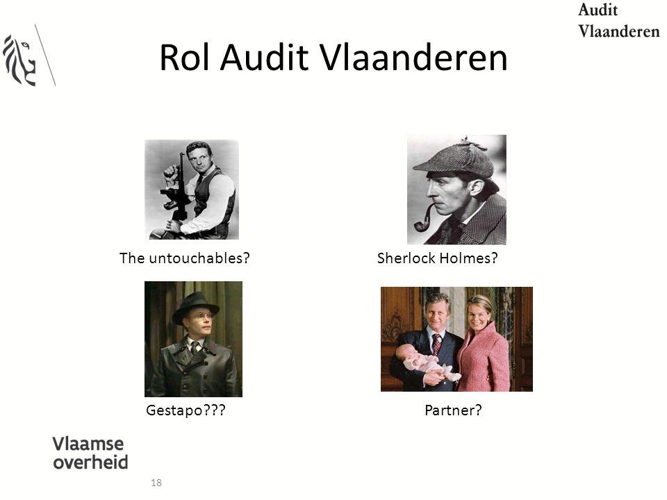 18 Rol Audit Vlaanderen Sherlock Holmes?The untouchables? Gestapo???Partner?