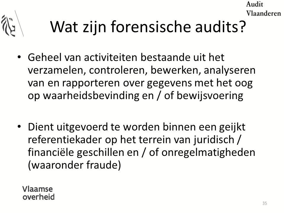 Wat zijn forensische audits.