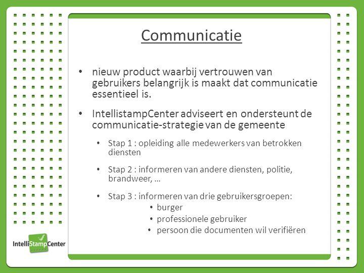 nieuw product waarbij vertrouwen van gebruikers belangrijk is maakt dat communicatie essentieel is.
