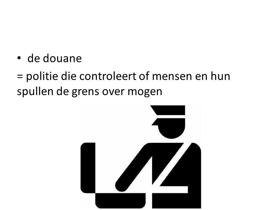 = politie die controleert of mensen en hun spullen de grens over mogen