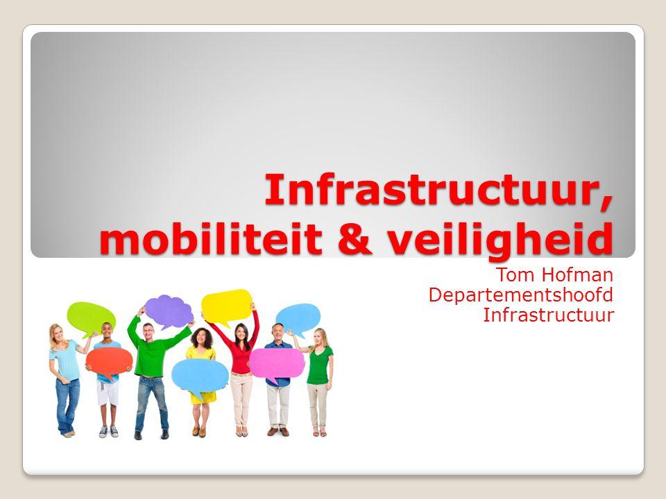 Infrastructuur, mobiliteit & veiligheid Tom Hofman Departementshoofd Infrastructuur