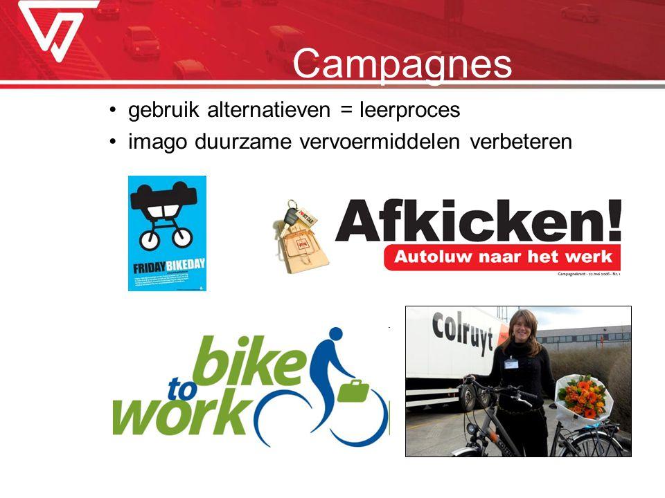 Campagnes gebruik alternatieven = leerproces imago duurzame vervoermiddelen verbeteren