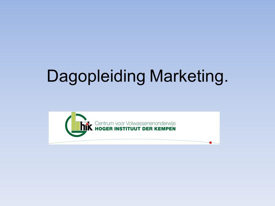 Dagopleiding Marketing.