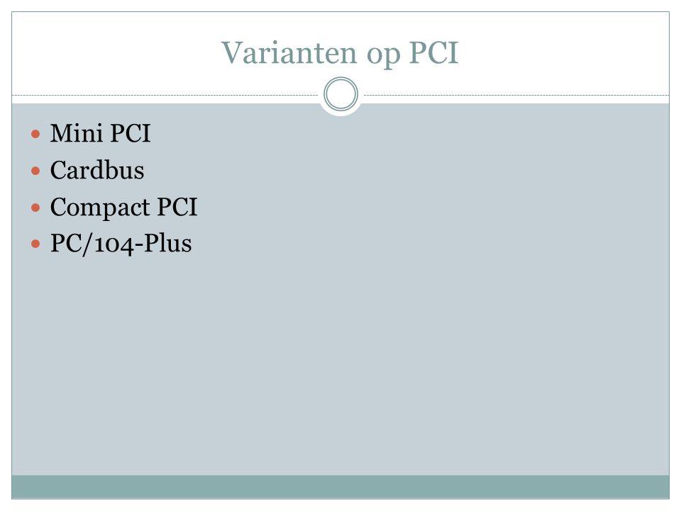 Mini PCI Vooral gebruikt in notebooks & media- center pc