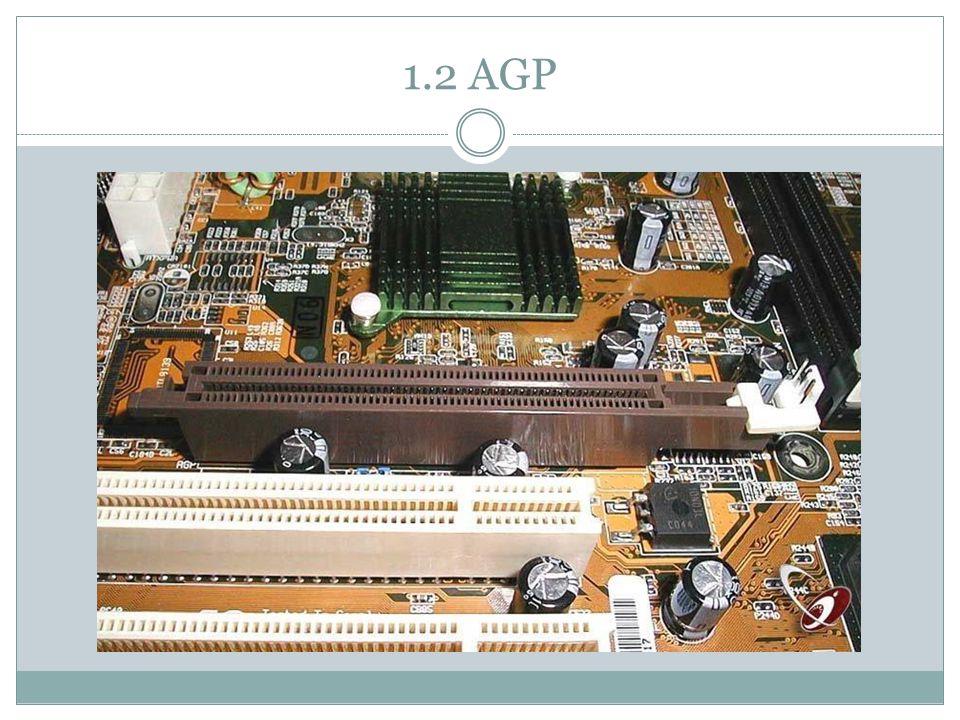 Accelerated Graphics Port Release in 1997 Ontworpen door Intel Capaciteit: 2133 MB/s (8X) Type: Parallel Bandbreedte: 32 bits