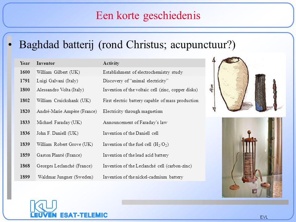 EVL Een korte geschiedenis Vergeten in tabel op http://batteryuniversity.com/learn/article/battery_developments Vloeibaar Natrium(zouten)/S (245° C).