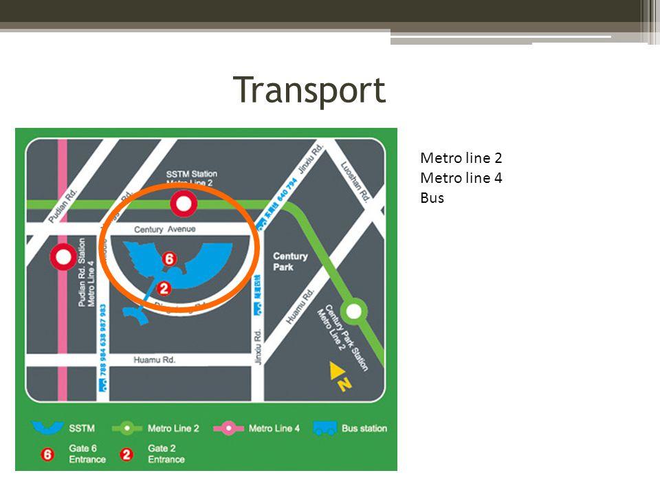 Metro line 2 Metro line 4 Bus Transport