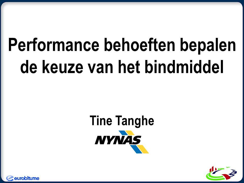 Performance behoeften bepalen de keuze van het bindmiddel Tine Tanghe