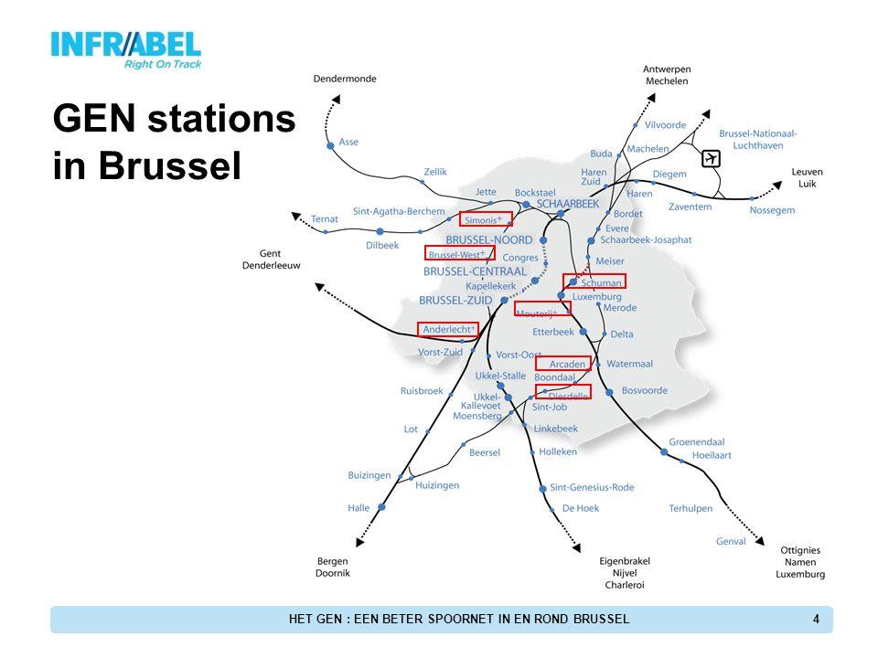 15 L26: Vilvoorde - Halle Inrichting van de nieuwe stopplaats Arcaden De nieuwe stopplaatsen HET GEN : EEN BETER SPOORNET IN EN ROND BRUSSEL