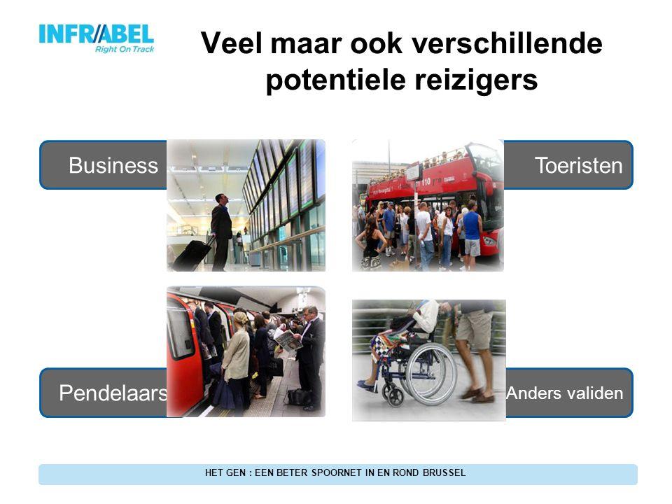 In het kader van GEN-project 17 Ideale omgeving om te starten Nieuw Multimodaal Veel reizigers betrokken HET GEN : EEN BETER SPOORNET IN EN ROND BRUSSEL