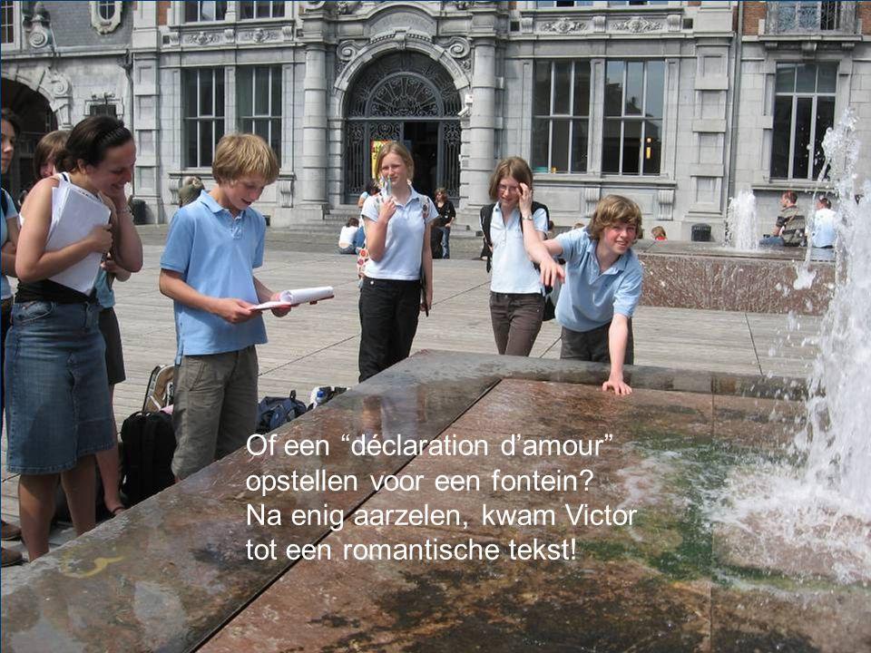 Of een déclaration d'amour opstellen voor een fontein.