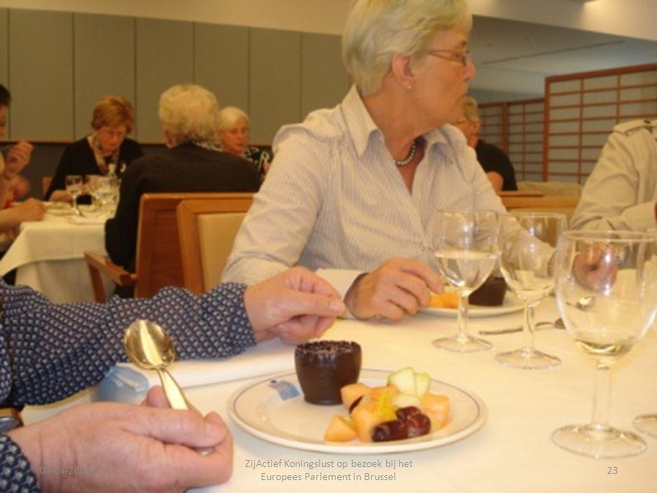07-04-2009 ZijActief Koningslust op bezoek bij het Europees Parlement in Brussel 23