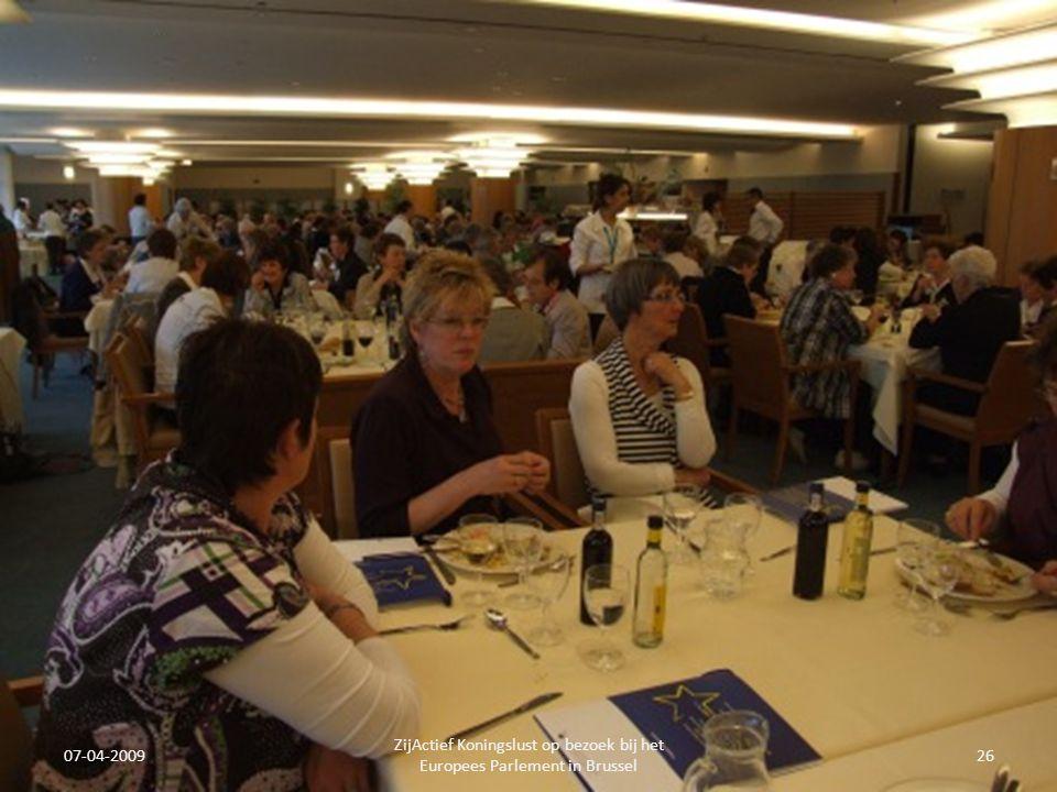 07-04-2009 ZijActief Koningslust op bezoek bij het Europees Parlement in Brussel 26