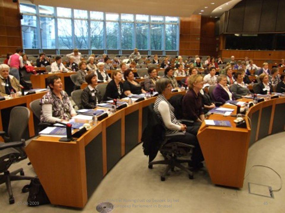 07-04-2009 ZijActief Koningslust op bezoek bij het Europees Parlement in Brussel 45