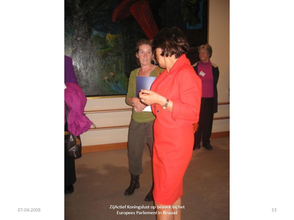 07-04-2009 ZijActief Koningslust op bezoek bij het Europees Parlement in Brussel 53