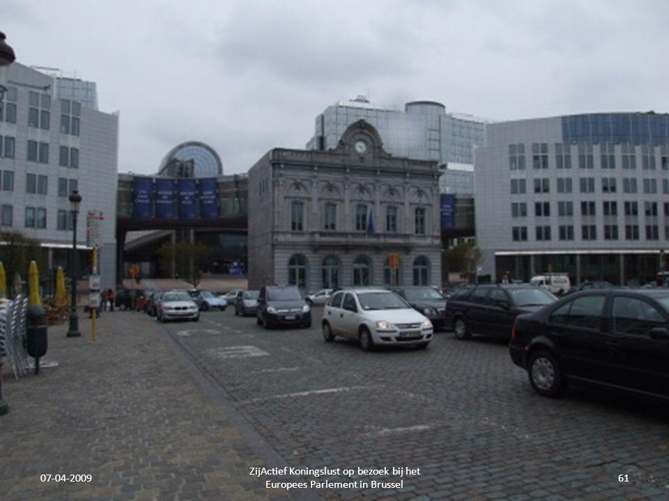 07-04-2009 ZijActief Koningslust op bezoek bij het Europees Parlement in Brussel 61