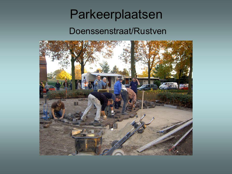 Parkeerplaatsen Doenssenstraat/Rustven