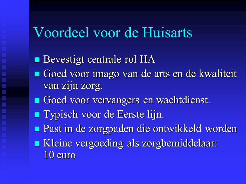 Multidisciplinair Zorgoverleg GDT – overleg (geïntegreerde dienst thuiszorg, subsidie federale overheid) GDT – overleg (geïntegreerde dienst thuiszorg, subsidie federale overheid) 1 x per jaar bij chronisch zieke 1 x per jaar bij chronisch zieke Vergoeding : 40 euro ( bij patient thuis) Vergoeding : 40 euro ( bij patient thuis) Formulieren indienen bij SIT,Bruggestraat, 14 bus 1 Formulieren indienen bij SIT,Bruggestraat, 14 bus 1 Betaald door het ziekenfonds van patient Betaald door het ziekenfonds van patient