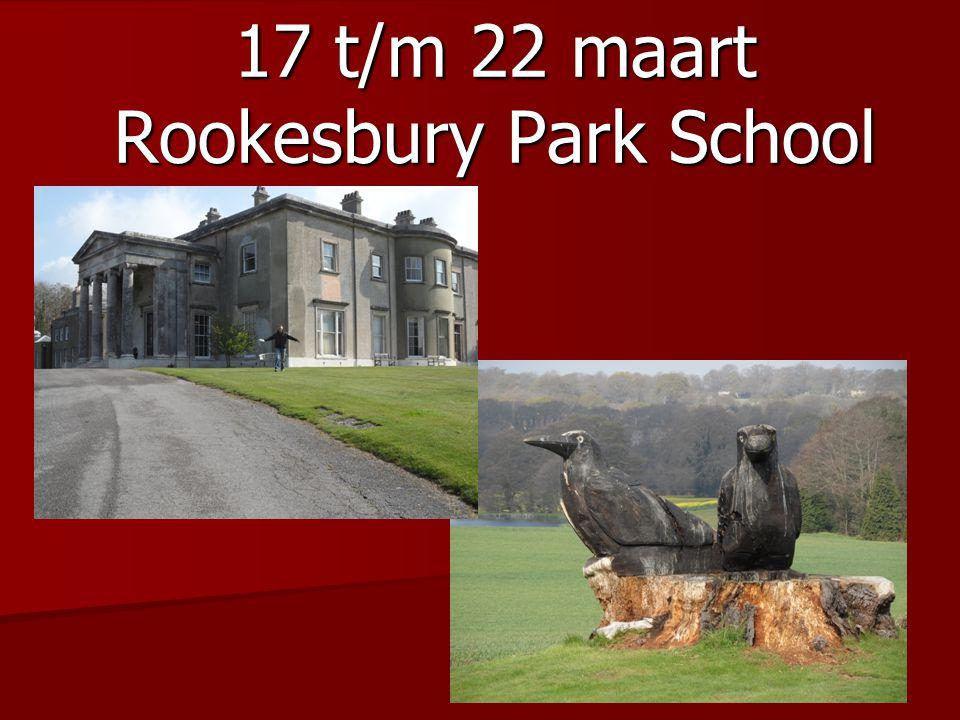 17 t/m 22 maart Rookesbury Park School