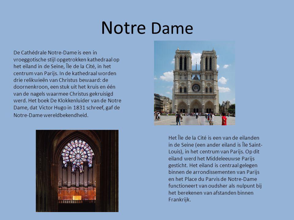 Notre Dame De Cathédrale Notre-Dame is een in vroeggotische stijl opgetrokken kathedraal op het eiland in de Seine, Île de la Cité, in het centrum van