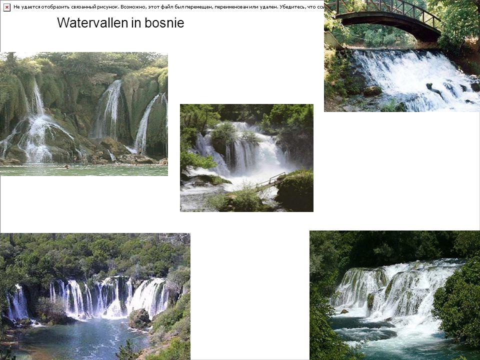 Watervallen in bosnie