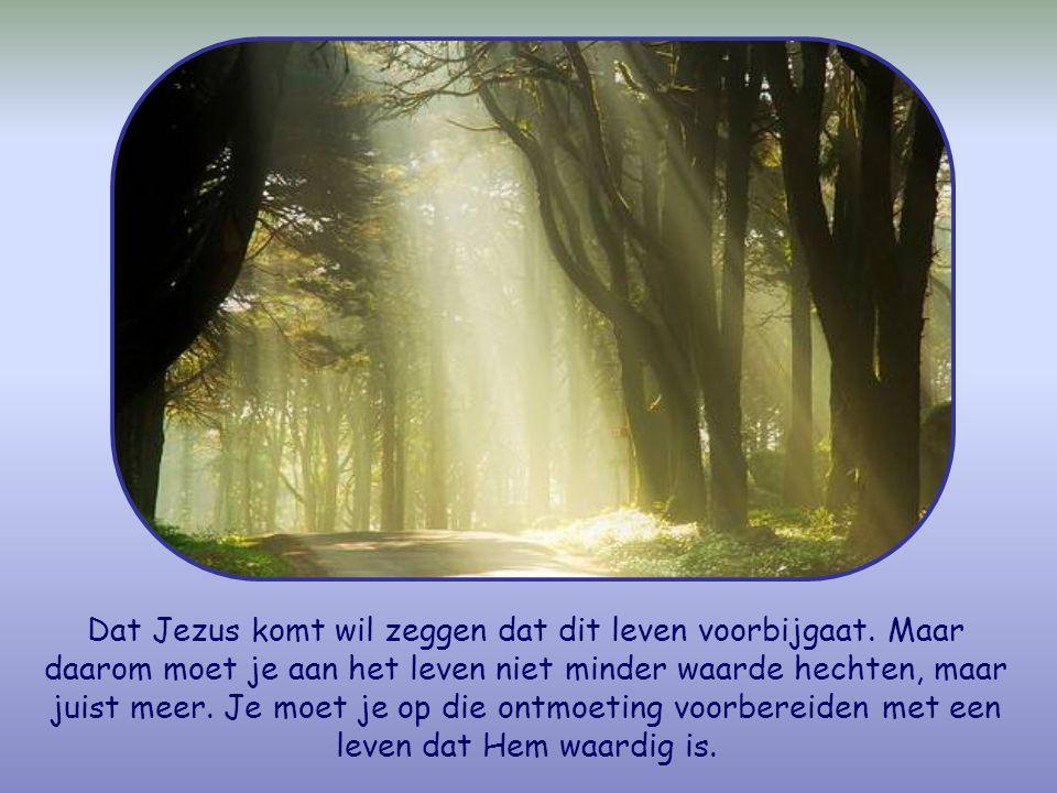 En omdat je niet weet of Christus vandaag komt, of morgen, of over een paar jaar, moet je waakzaam zijn.