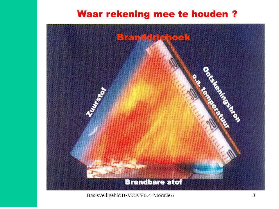 Basisveiligehid B-VCA V0.4 Module 64 koolmonoxide zuurstof walm / roet brandbare stof Het verbrandingsproces