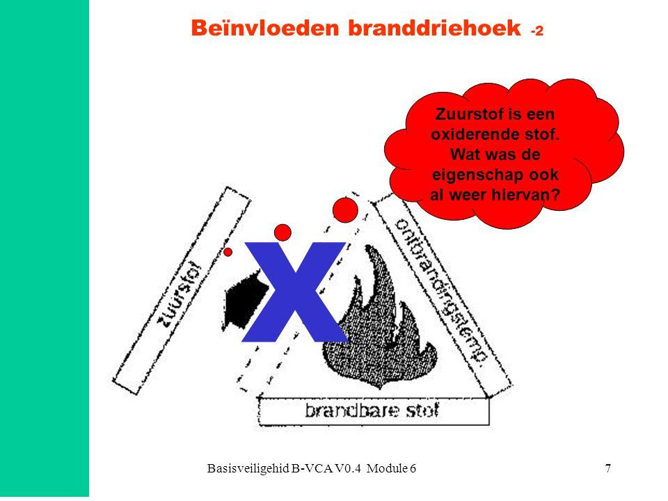 Basisveiligehid B-VCA V0.4 Module 68 Beïnvloeden branddriehoek -3 X Dit hoeft beslist geen 'open' vuur te zijn.
