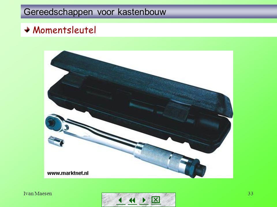 Ivan Maesen33        Momentsleutel Gereedschappen voor kastenbouw