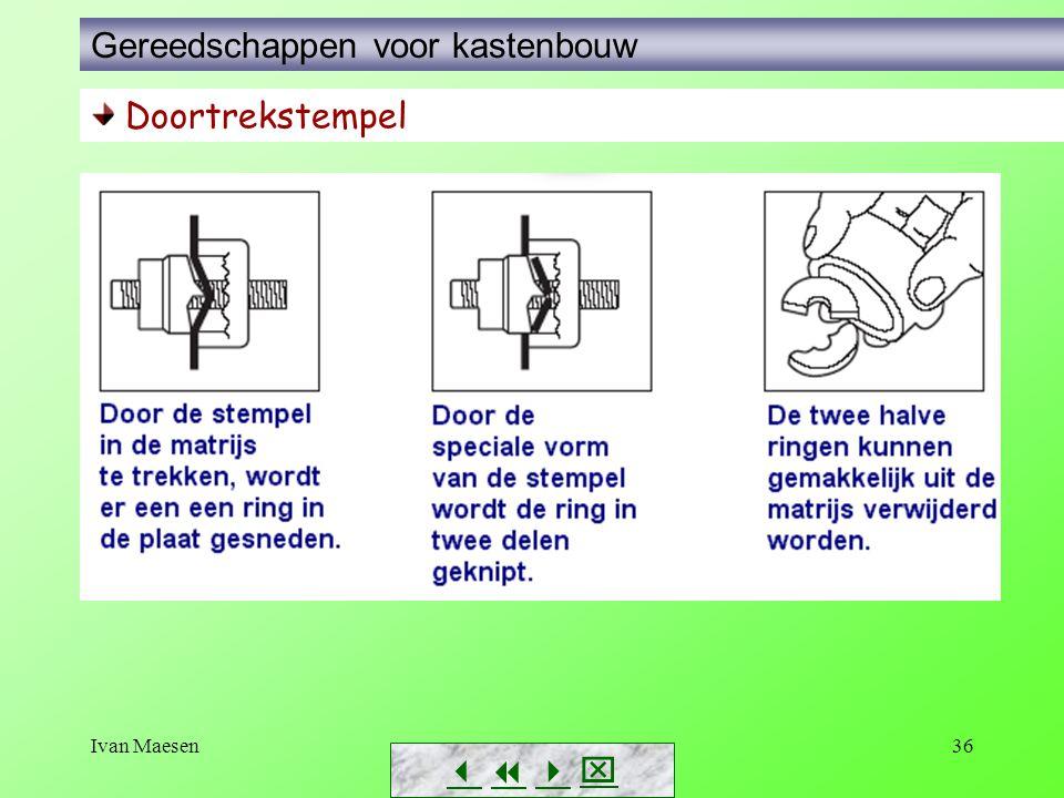 Ivan Maesen36        Doortrekstempel Gereedschappen voor kastenbouw
