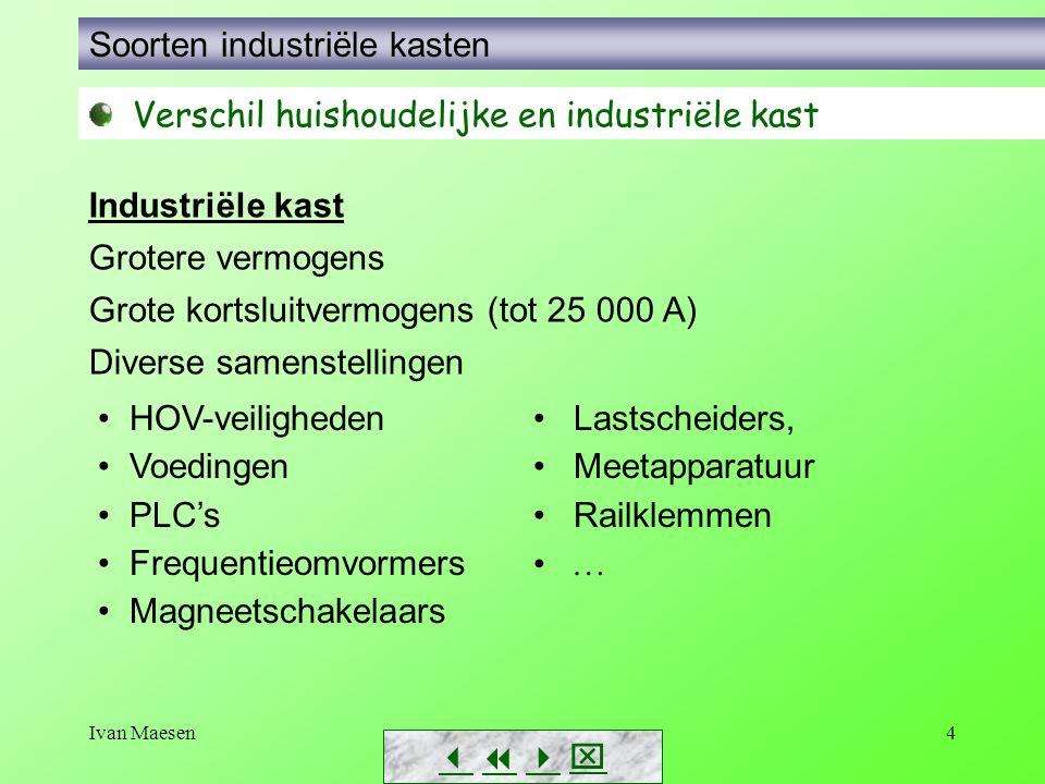 Ivan Maesen4        Soorten industriële kasten Verschil huishoudelijke en industriële kast Industriële kast Grotere vermogens Grote kortsluitv