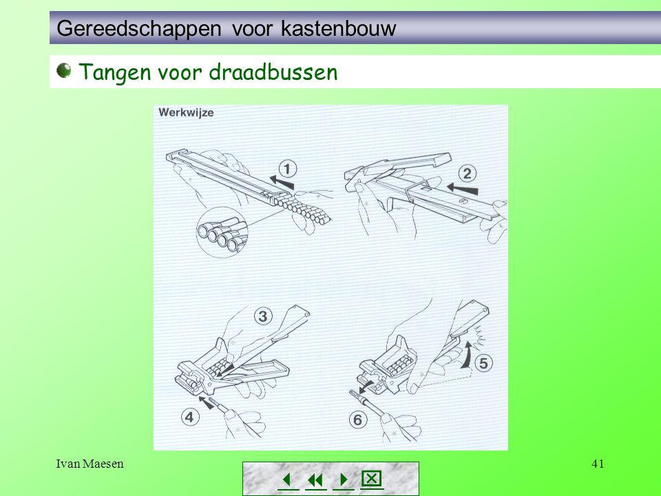 Ivan Maesen41        Tangen voor draadbussen Gereedschappen voor kastenbouw
