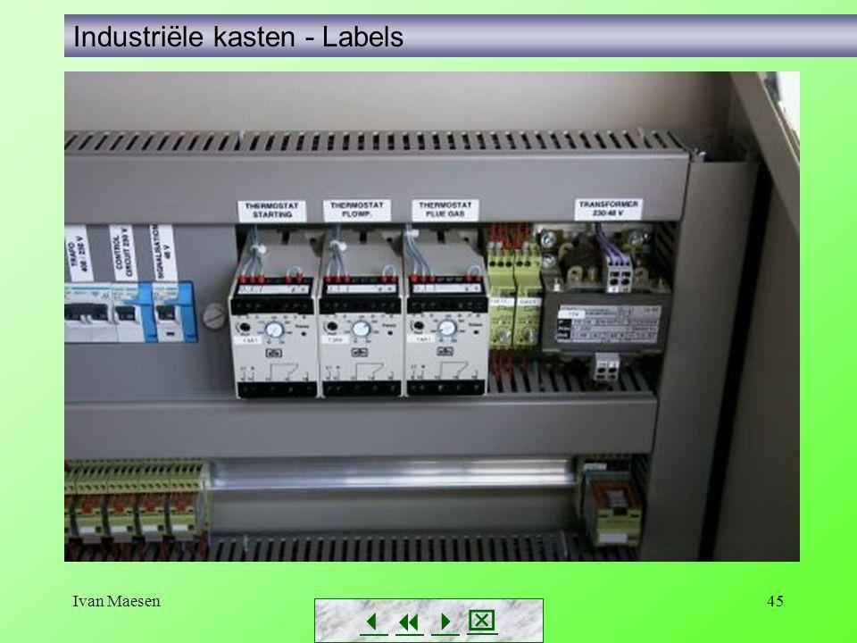 Ivan Maesen45        Industriële kasten - Labels
