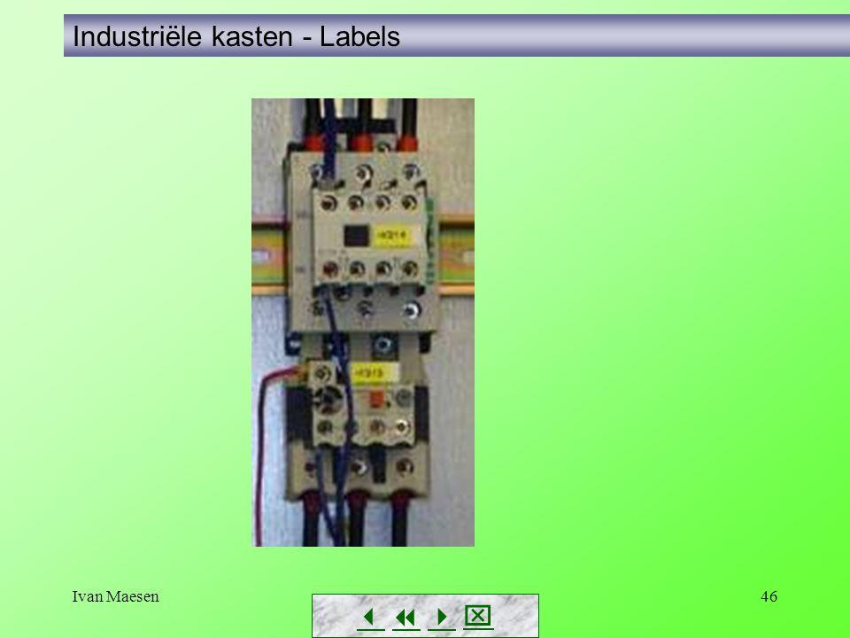 Ivan Maesen46        Industriële kasten - Labels