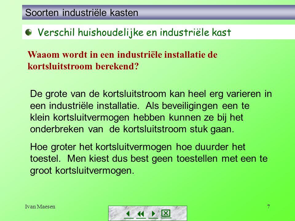 7        Soorten industriële kasten Verschil huishoudelijke en industriële kast De grote van de kortsluitstroom kan heel erg varieren in een i