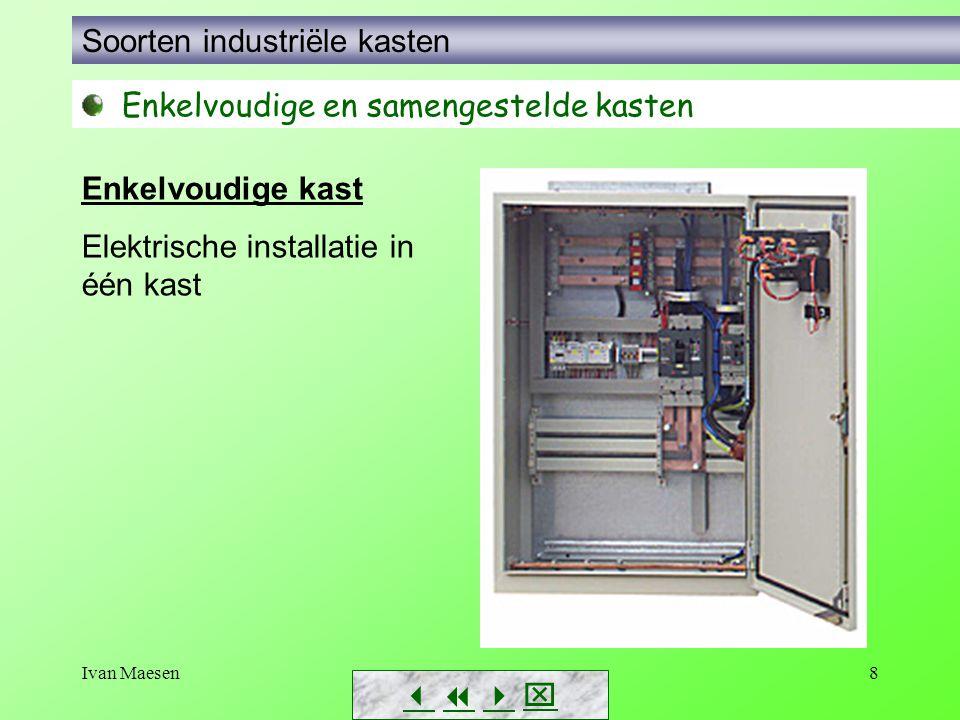 Ivan Maesen8        Soorten industriële kasten Enkelvoudige en samengestelde kasten Enkelvoudige kast Elektrische installatie in één kast