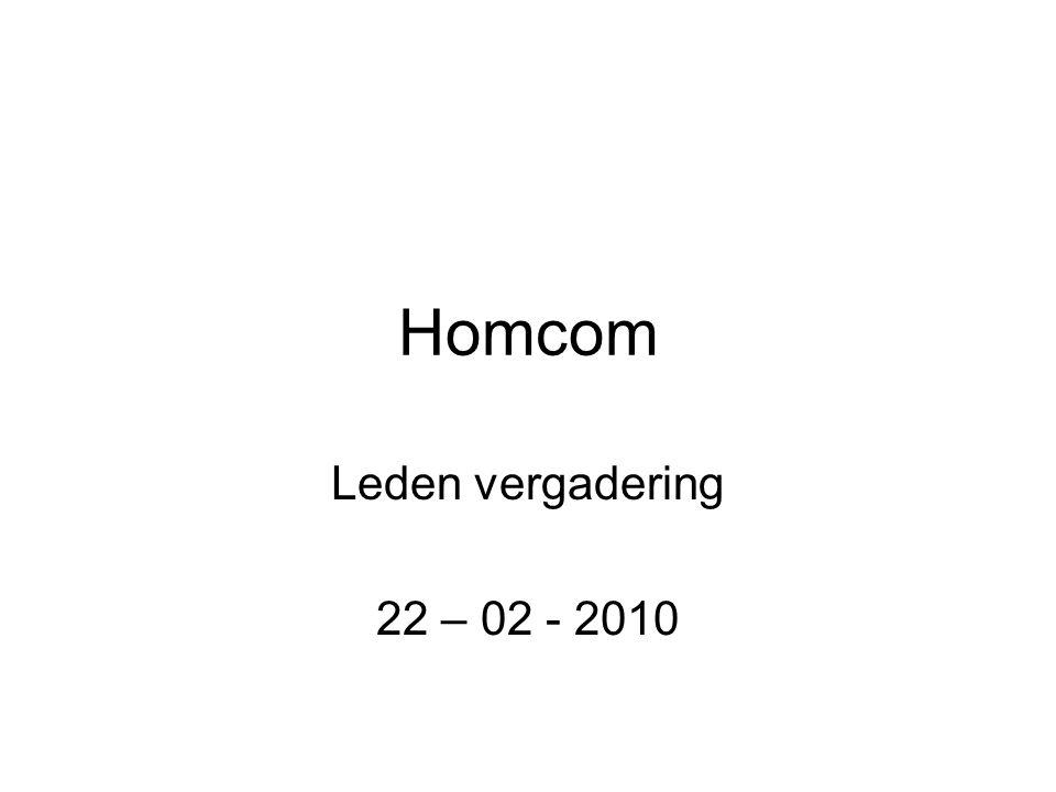 Homcom Leden vergadering 22 – 02 - 2010