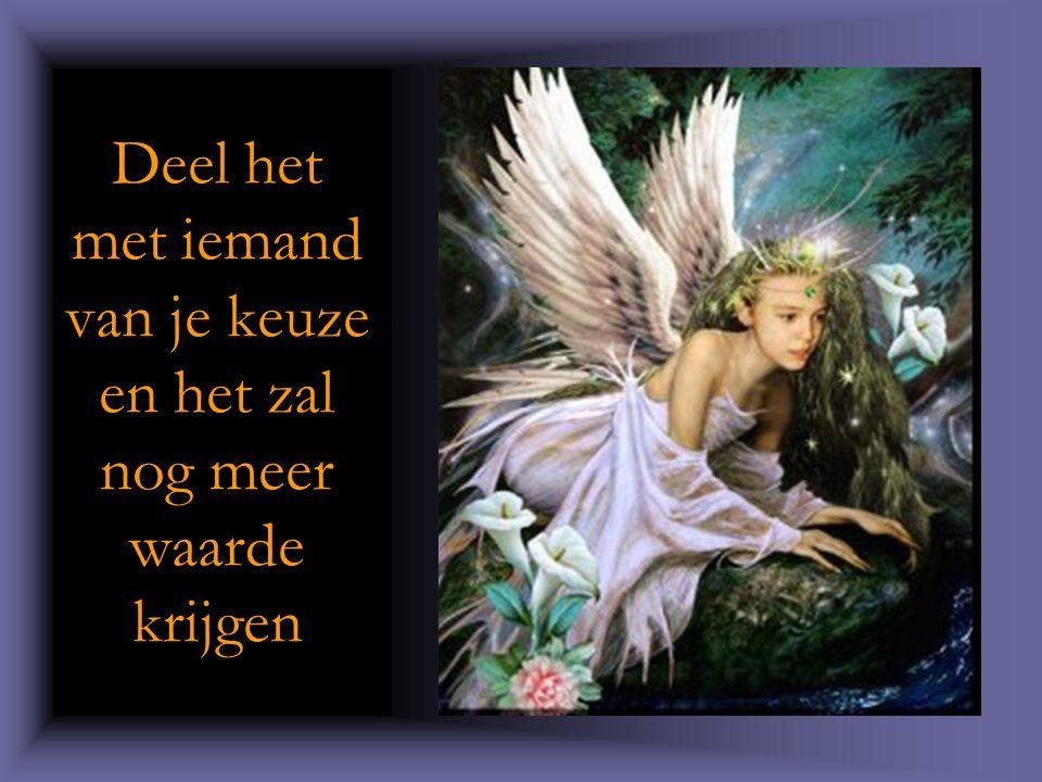 « De bron van dit gedicht is onbekend (vertaling van een Duits/Frans uittreksel), maar het brengt geluk aan wie het doorgeeft.