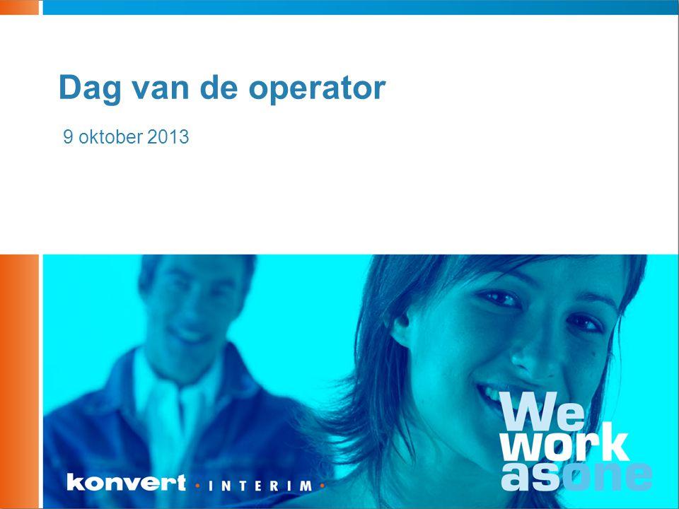 Dag van de operator 9 oktober 2013