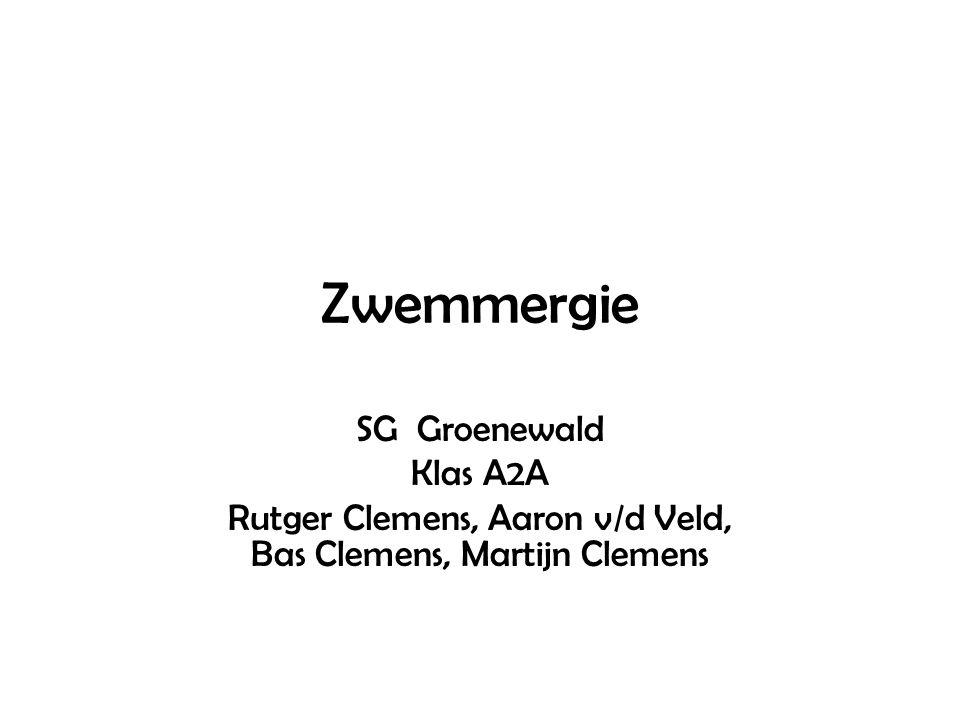 Zwemmergie SG Groenewald Klas A2A Rutger Clemens, Aaron v/d Veld, Bas Clemens, Martijn Clemens